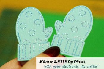 Faux Letterpress