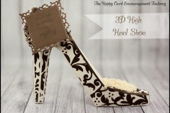 Flocked Flourish 3D High Heel