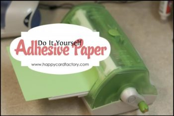 Make Your Own Adhesive Paper
