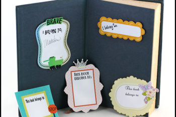 Easy Print and Cut Bookplates