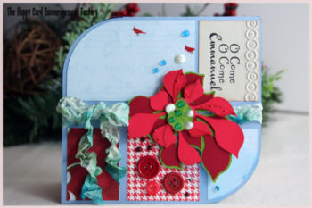 Patchwork Poinsettia Card
