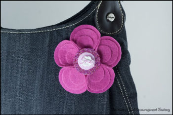 Adorable Felt Flower Pin