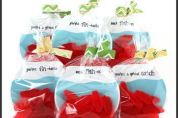 Fish Bowl Goodie Bag with Decorative Twist Tie Tutorial
