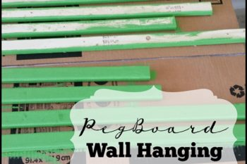 DIY Peg Board Wall Hanging