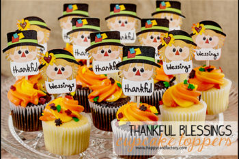 Thankful Blessings Cupcake Toppers