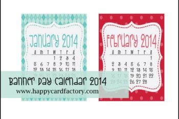 {Free Printable} 2014 Calendar