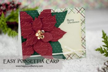 Easy Poinsettia Card