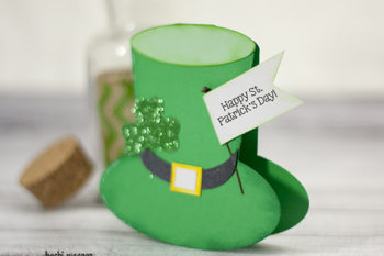 St. Patrick's Day Leprechaun Hat shaped card