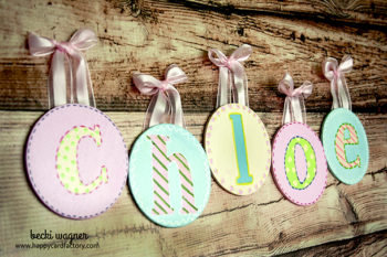 Baby Chloe Wooden Wall Letters