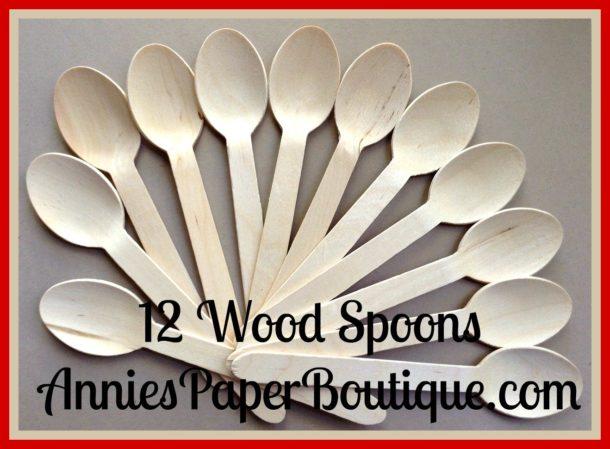 12 wooden spoons