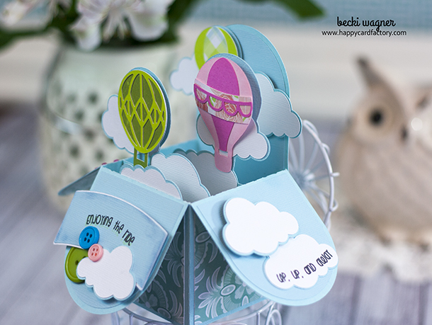 Hot Air Balloon Box Card (2)