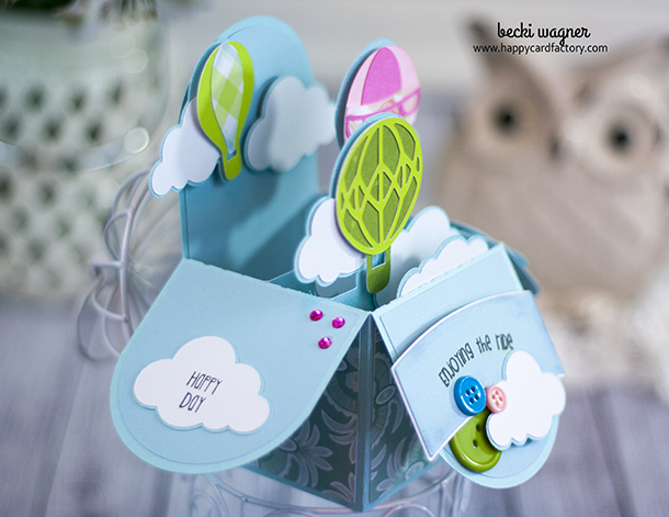 Hot Air Balloon Box Card (3)
