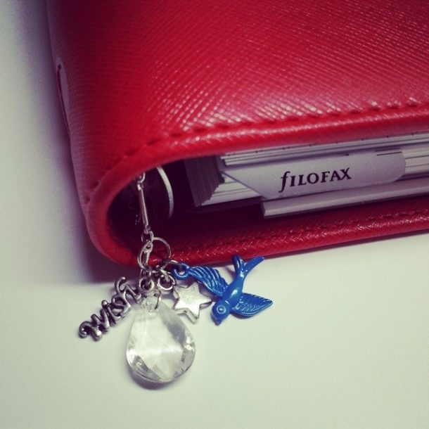 Charm for Filofax Saffiano