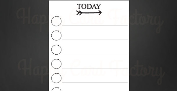 Today Checklist for Erin Condren planners