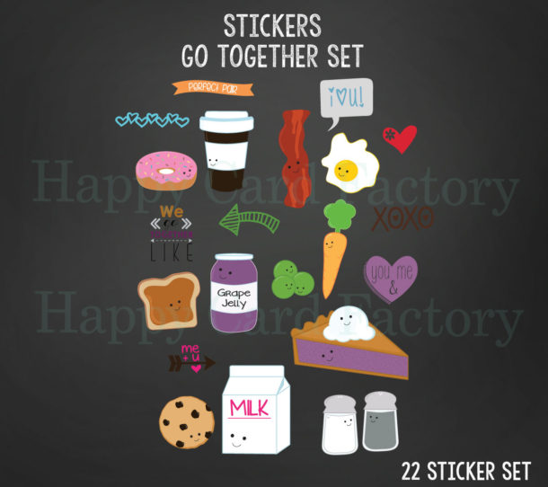go together graphic stickers