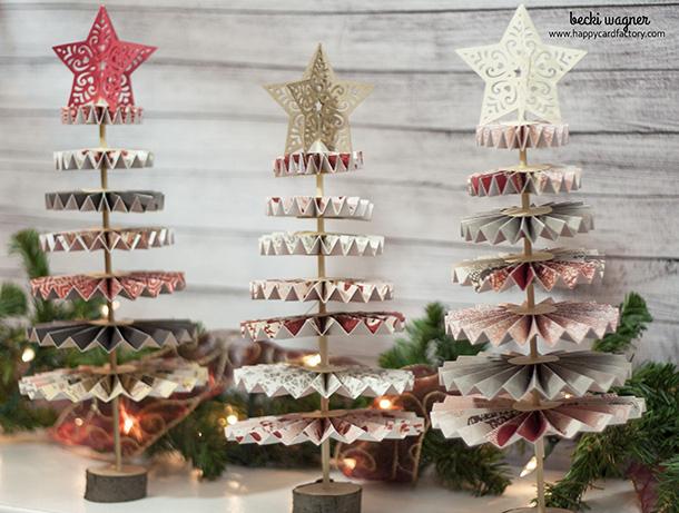 Rosette Christmas tree 3