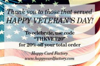 Celebration Veteran's Day Sale!