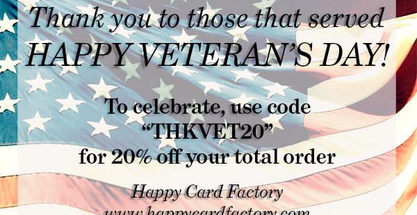 Veteran's Day Sale Full