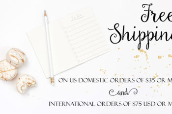 New Free Shipping Rules at CityGirl Planners