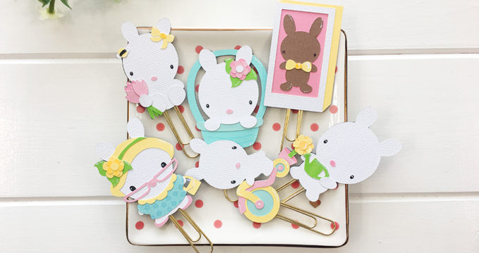 Spring Bunny Plannerclips