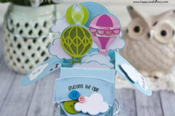 Hot Air Balloon Box Card