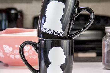 Sherlock and Watson Coffee Mugs